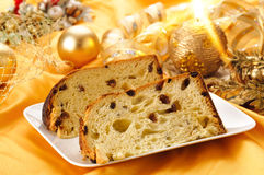 Panettone slices stock photography