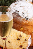 Panettone and Spumante for Christmas Royalty Free Stock Image