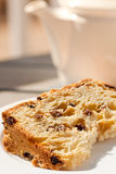 Panettone and tea Stock Image