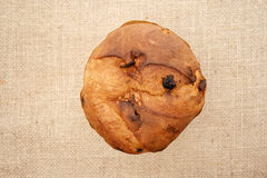 Panettone top view Stock Photo