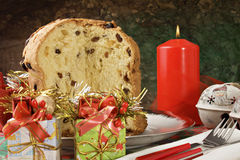 Panettone - torta italiana di natale Immagini Stock Libere da Diritti