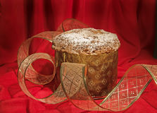 Panettone, traditional cake for Christmas and New Year. Royalty Free Stock Photography