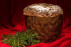 Panettone, traditional homemade sweet cake for Christmas and New Year. Stock Images