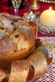 Panettone, traditional Italian Christmas cake stock photo