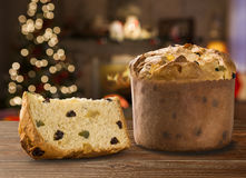 Panettone. Is the traditional Italian dessert for Christmas stock photography