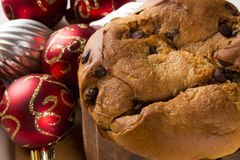 Panettone. Is the traditional Italian dessert for Christmas royalty free stock photography