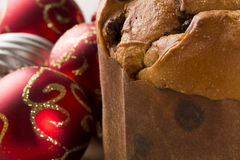 Panettone. Is the traditional Italian dessert for Christmas Royalty Free Stock Images
