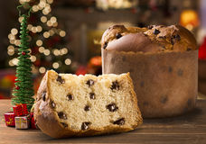 Panettone. Is the traditional Italian dessert for Christmas Stock Image