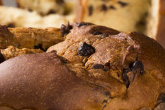 Panettone. Is the traditional Italian dessert for Christmas Royalty Free Stock Photo