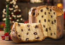 Panettone. Is the traditional Italian dessert for Christmas stock photo