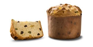 Panettone. Is the traditional Italian dessert for Christmas Royalty Free Stock Photos