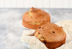 Panettone is the traditional Italian dessert for Christmas or Easter cake stock images