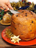 Panettone, typical Christmas cake royalty free stock image