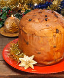 Panettone, typical Christmas cake Royalty Free Stock Images