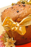 Panettone, typical Christmas cake, closeup royalty free stock photography