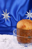 Panettone: Typical Christmas italian cake Stock Photos