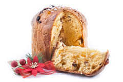 Panettone, typical Christmas sweet Stock Image