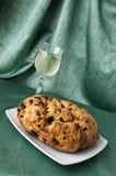 Panettone and white wine 1 Stock Image
