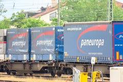 Paneuropa cargo train Stock Photos