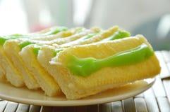 Panez préparer la sauce à beurre et à crème anglaise du plat Photographie stock libre de droits