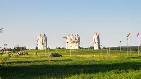Panfilov分裂的光彩的英雄的纪念品,被击败的法西斯主义者在莫斯科作战, Dubosekovo,莫斯科地区,俄罗斯 库存照片