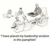Panfleto da liderança Imagens de Stock Royalty Free