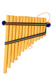 Panflute in the white backround Stock Image