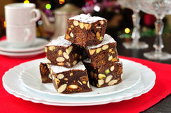 Panforte di Siena, Italian Christmas treat Stock Photo