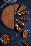 Panforte. Traditional italian christmas cake Stock Photography