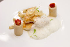 Panfried Turbot Stock Photo