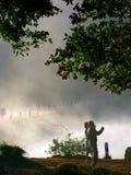 Pang Oung Lake dans la brume, Mae Hong Son Province, Thaïlande Photographie stock libre de droits
