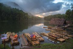 Pang Oung Lake at Mae hong son Thailand. Stock Photography