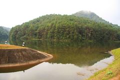 Pang Oung in Maehongson alla Tailandia Fotografia Stock