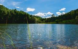 Pang Oung Reservoir. Maehongson, Thailand Stock Images