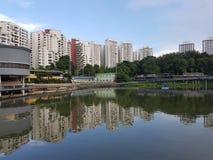 Pang Sua Pond dans Bukit Panjang, Singapour Photos stock
