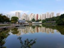 Pang Sua Pond i Bukit Panjang Singapore Royaltyfria Bilder