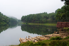 Pang Ung, Beautiful forest lake in the morning. Pang Ung. Beautiful forest lake in the morning. Mae Hong Son. Thailand Royalty Free Stock Photo