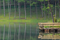 Pang Ung, Beautiful forest lake in the morning. Pang Ung. Beautiful forest lake in the morning. Mae Hong Son. Thailand Stock Photography