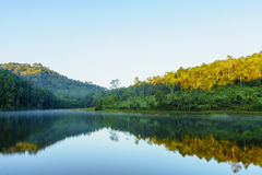 Pang Ung. Beautiful forest lake in the morning. Royalty Free Stock Image