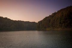 Pang Ung nationalpark av det Mae Hong Son landskapet Thailand Royaltyfria Bilder