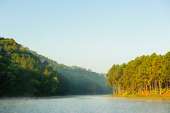 Pang Ung reservoir lake Royalty Free Stock Photo