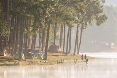 Pang Ung at sunrise Stock Image