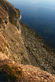 Panga cliff. On island of Saaremaa, Estonia. View to the Baltic sea Stock Photo