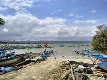 pangandaran海滩的另一边 图库摄影