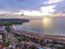 Pangandaran-Sonnenuntergangansicht lizenzfreie stockbilder
