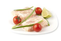 Pangasius fillet molded Royalty Free Stock Image