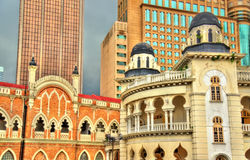 Panggung Bandaraya, teatro della città e la vecchia costruzione dell'alta corte in Kuala Lumpur, Malesia Immagini Stock Libere da Diritti