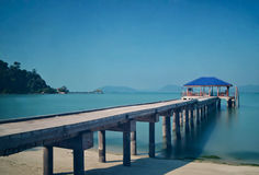 Pangkor Island fishermen Jetty Royalty Free Stock Image
