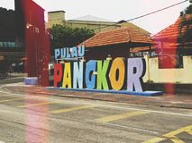 Pangkor Island Street Sign. Beautiful Pangkor Island  sign. An island in Perak Malaysia Royalty Free Stock Image