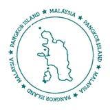 Pangkor wyspy wektorowa mapa Obraz Stock